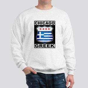 Chicago Greek American Sign Sweatshirt