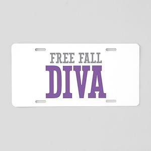 Free Fall DIVA Aluminum License Plate
