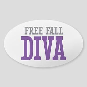 Free Fall DIVA Sticker (Oval)