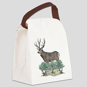 Buck watercolor art Canvas Lunch Bag