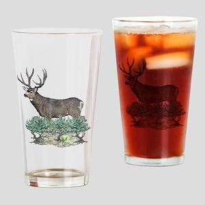 Buck watercolor art Drinking Glass
