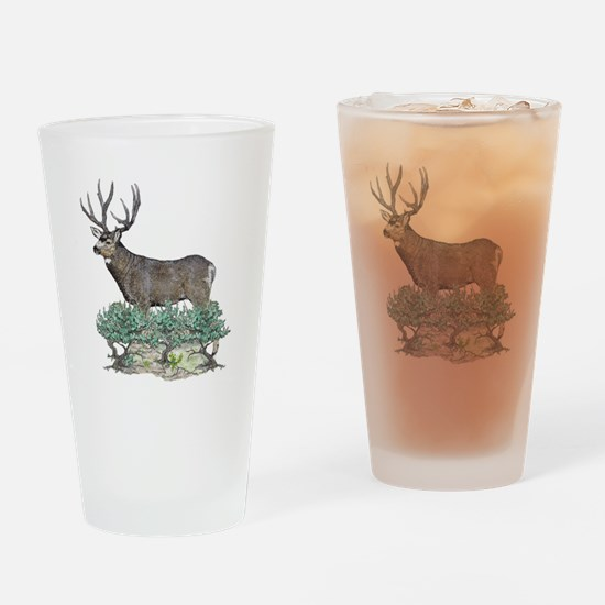 Buck watercolor art Drinking Glass