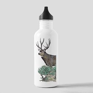 Buck watercolor art Stainless Water Bottle 1.0L
