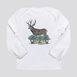 Buck watercolor art Long Sleeve Infant T-Shirt