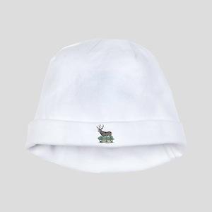 Buck watercolor art baby hat