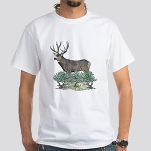 Buck watercolor art White T-Shirt