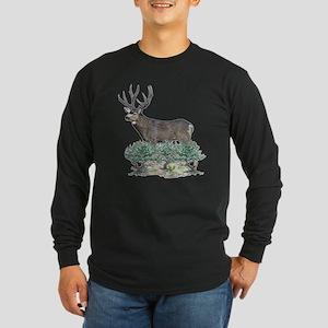 Buck watercolor art Long Sleeve Dark T-Shirt
