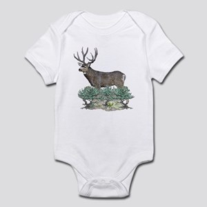 Buck watercolor art Infant Bodysuit