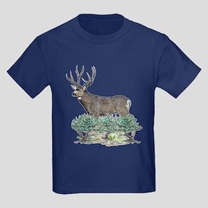 Buck watercolor art Kids Dark T-Shirt