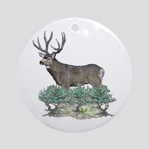 Buck watercolor art Ornament (Round)