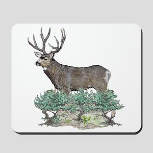 Buck watercolor art Mousepad