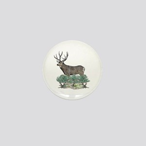 Buck watercolor art Mini Button