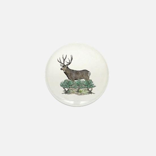 Buck watercolor art Mini Button