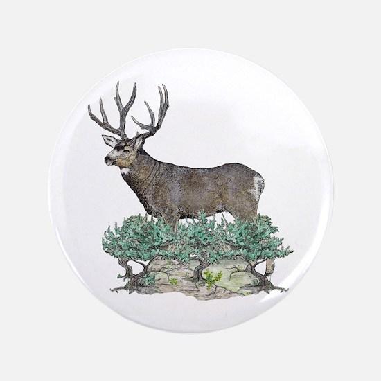 "Buck watercolor art 3.5"" Button"