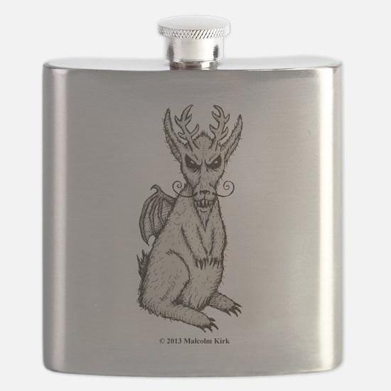 Spring-heeled Jackalope Flask