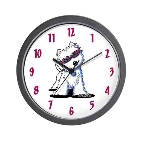 Doggles Westie Wall Clock