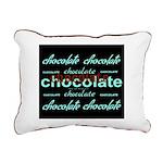 Celebrate Dark Chocolate Rectangular Canvas Pillow