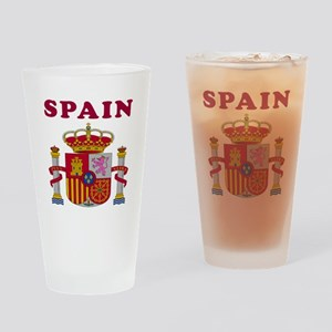 Spain Coat Of Arms Designs Drinking Glass