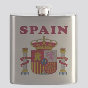 Spain Coat Of Arms Designs Flask