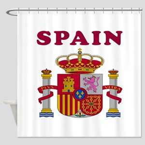 Spain Coat Of Arms Designs Shower Curtain