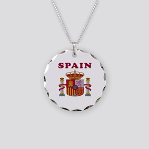 Spain Coat Of Arms Designs Necklace Circle Charm