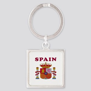 Spain Coat Of Arms Designs Square Keychain