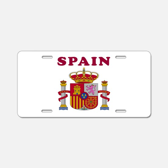 Spain Coat Of Arms Designs Aluminum License Plate