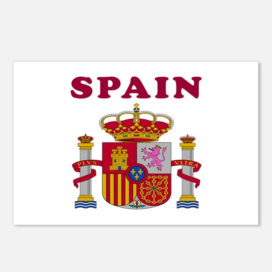 Spain Coat Of Arms Designs Postcards (Package of 8