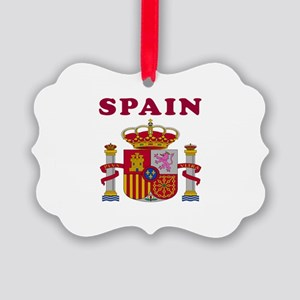 Spain Coat Of Arms Designs Picture Ornament