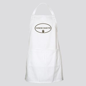 Oval Chinese Shar Pei BBQ Apron