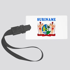 Suriname Coat Of Arms Designs Large Luggage Tag