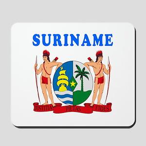Suriname Coat Of Arms Designs Mousepad
