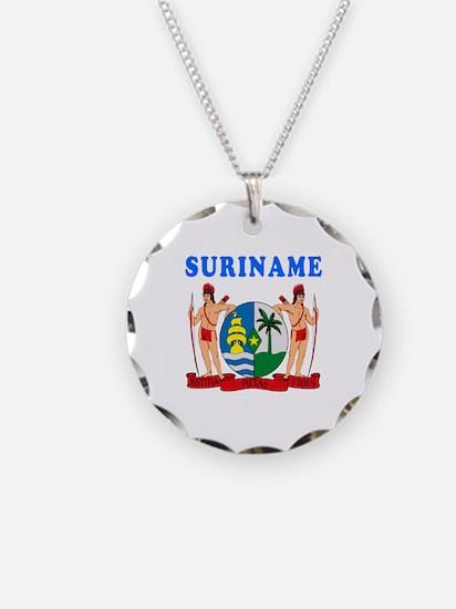 Suriname Coat Of Arms Designs Necklace
