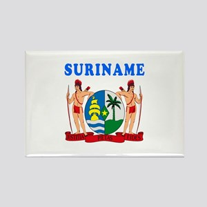 Suriname Coat Of Arms Designs Rectangle Magnet