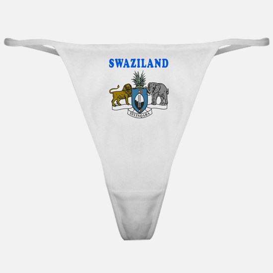 Swaziland Coat Of Arms Designs Classic Thong