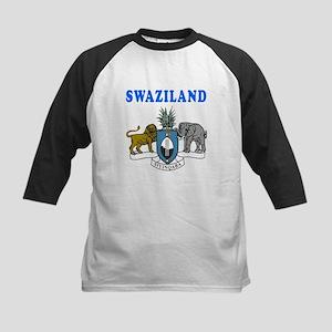 Swaziland Coat Of Arms Designs Kids Baseball Jerse