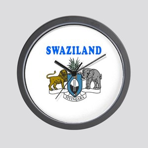 Swaziland Coat Of Arms Designs Wall Clock