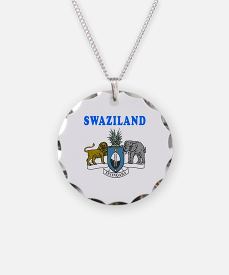 Swaziland Coat Of Arms Designs Necklace