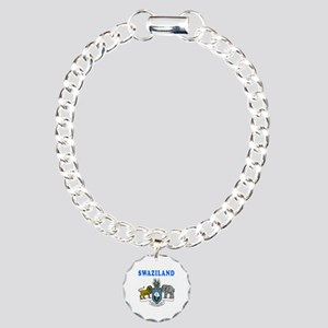 Swaziland Coat Of Arms Designs Charm Bracelet, One