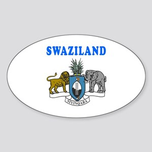 Swaziland Coat Of Arms Designs Sticker (Oval)
