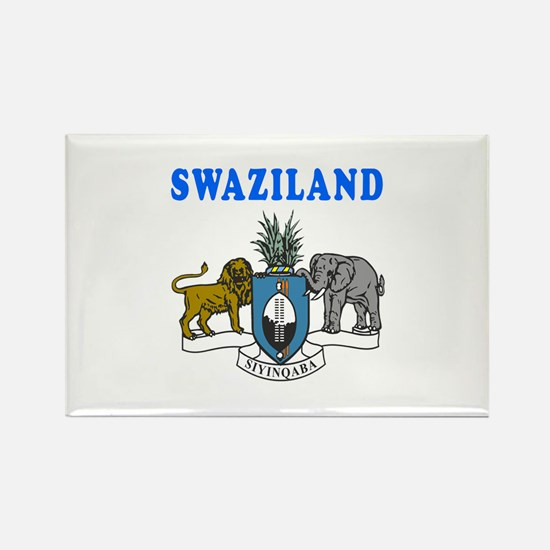 Swaziland Coat Of Arms Designs Rectangle Magnet