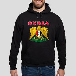Syria Coat Of Arms Designs Hoodie (dark)