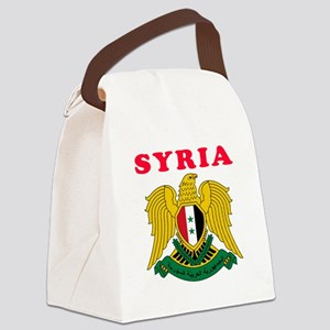 Syria Coat Of Arms Designs Canvas Lunch Bag