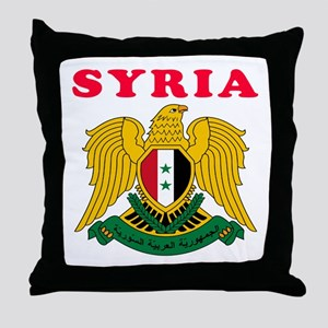 Syria Coat Of Arms Designs Throw Pillow
