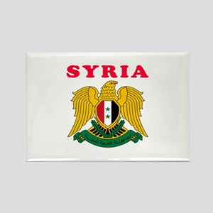 Syria Coat Of Arms Designs Rectangle Magnet