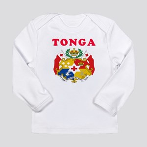 Tonga Coat Of Arms Designs Long Sleeve Infant T-Sh