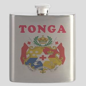 Tonga Coat Of Arms Designs Flask