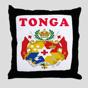 Tonga Coat Of Arms Designs Throw Pillow