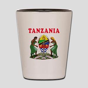 Tanzania Coat Of Arms Designs Shot Glass