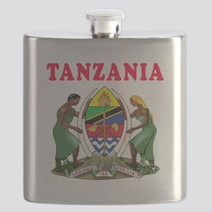 Tanzania Coat Of Arms Designs Flask